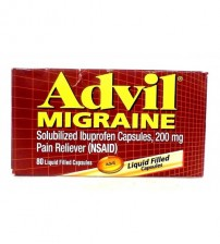 Advil Migraine Reliever 200 mg 80 Pain NSAID Reliever Liquid Capsules